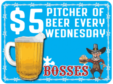 $5 Beer Pitchers on Wednesdays