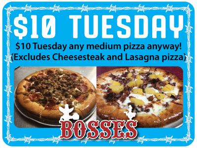 Specials at Bosses